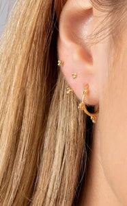 Hoop Earrings 'Marie', Creolen, Gold