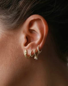 Hoop Earrings 'Snake', Creolen, gold