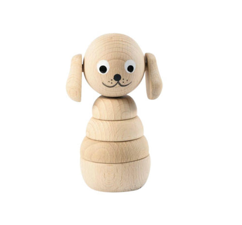 Wooden Stacking Toy - Dog