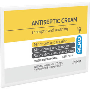 house-of-first-aid,AeroAid Antiseptic Cream – Sachets 10% GST,Aero healthcare,Antiseptic Cream