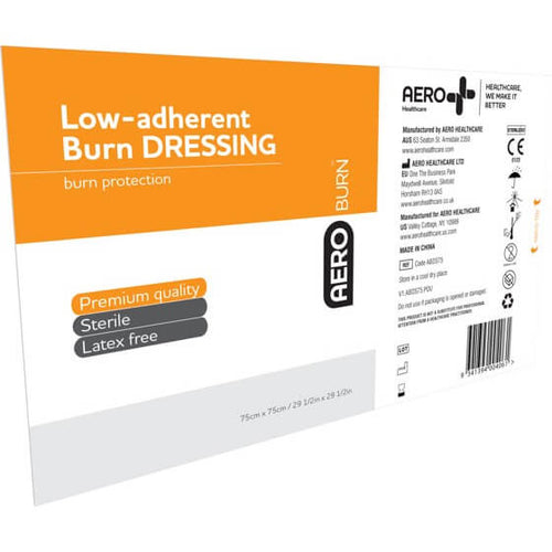 house-of-first-aid,AeroBurn Low Adherent Burn Sheets 75 cm x 75 cm 10% GST,House of First Aid,Low Adherent Burn Sheets
