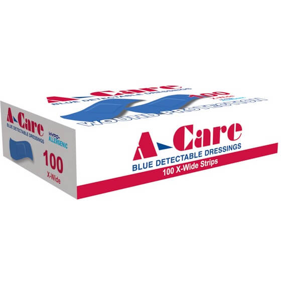 house-of-first-aid,A-Care Detectable Bandages – 100 Strips 10% GST,Aero healthcare,ADHESIVE BANDAGES
