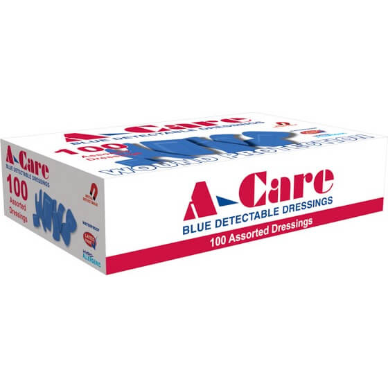 house-of-first-aid,A-Care Detectable Bandages – 100 x Assorted Dressings 10% GST,Aero healthcare,ADHESIVE BANDAGES