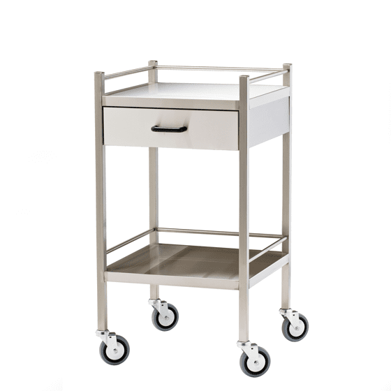 house-of-first-aid,Stainless Steel Trolley with Drawer 10% GST,Aero healthcare,Stainless Steel Trolley