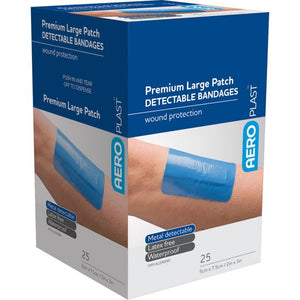 house-of-first-aid,AeroPlast Premium Detectable Bandages – 25 Patches 10% GST,Aero healthcare,ADHESIVE BANDAGES