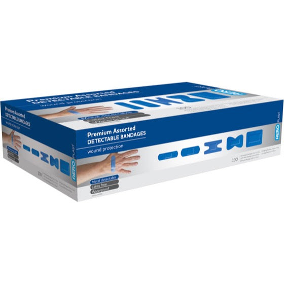 house-of-first-aid,AeroPlast 100 Assorted Premium Detectable Bandages 10% GST,Aero healthcare,ADHESIVE BANDAGES