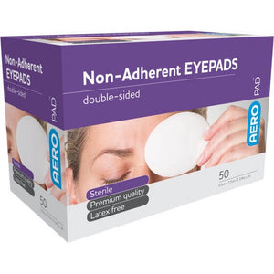 house-of-first-aid,AeroPad Non-Adherent 50 Eye Pads 10% GST,Aero healthcare,Non Adherent Dressing