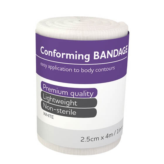 house-of-first-aid,AeroForm Conforming Bandages 2.5 cm x 4 M 10% GST,Aero healthcare,Conforming Bandages