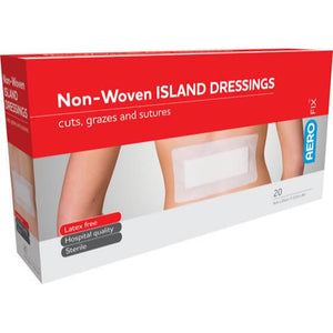 house-of-first-aid,AeroFix 20 Non-Woven Island Dressings 10 cm x 20 cm 10% GST,Aero healthcare,First Aid