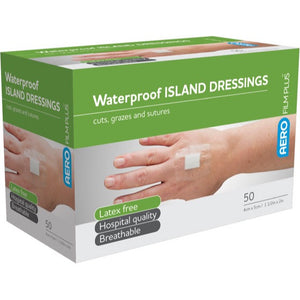 house-of-first-aid,AeroFilm Plus Waterproof Island Film Dressings 4 cm x 5 cm Box/50 10% GST,Aero healthcare,Adhesive Dressing