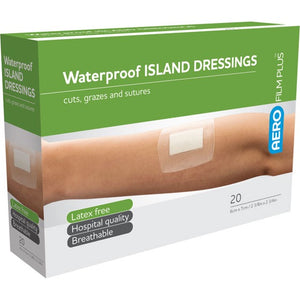 AeroFilm Plus 20 Waterproof Island Film Dressings 6 cm x 7 cm 10% GST
