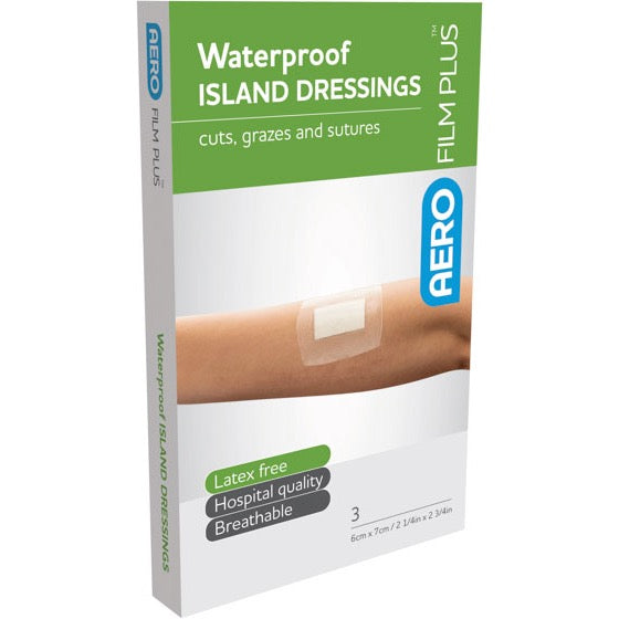 AeroFilm Plus 3 Waterproof Island Film Dressings 6 cm x 7 cm  10% GST