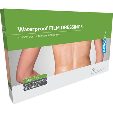 house-of-first-aid,AeroFilm Plus Waterproof Island Film Dressings 15 cm x 20 cm Box/20 10% GST,Aero healthcare,Adhesive Dressing
