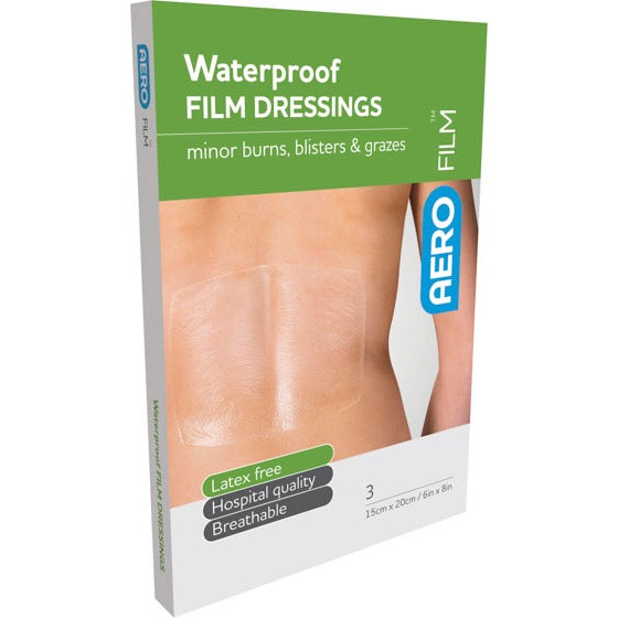house-of-first-aid,AeroFilm Plus Waterproof Island Film Dressings 15 cm x 20 cm Env/3 10% GST,Aero healthcare,Adhesive Dressing