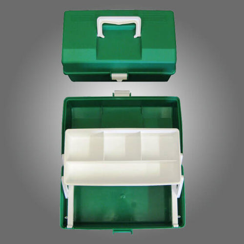 house-of-first-aid,Green Plastic Case 1 Tray 10% GST,Aero healthcare,Cases