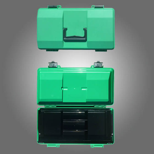 house-of-first-aid,Green Plastic Cases with Lift-out Tray Medium 10% GST,Aero healthcare,Cases
