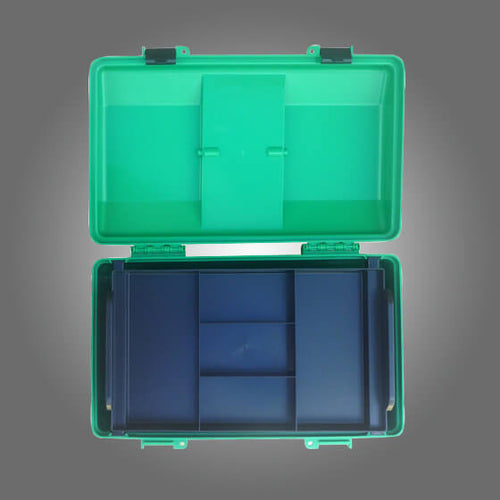 house-of-first-aid,Green Plastic Cases with Lift-out Tray Large 10% GST,Aero healthcare,Cases