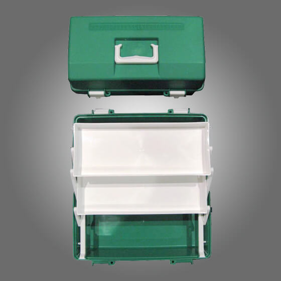 house-of-first-aid,Green Plastic Case 2 Trays 10% GST,Aero healthcare,Cases