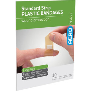 house-of-first-aid,AeroPlast Plastic Bandages – 10 x Strips 10% GST,Aero healthcare,ADHESIVE BANDAGES
