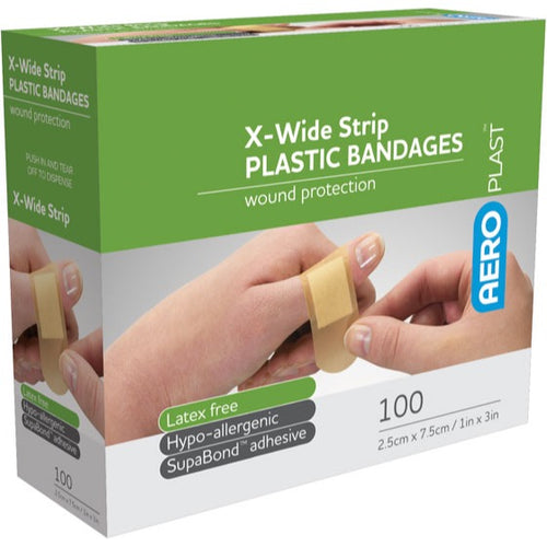 house-of-first-aid,AeroPlast Plastic Bandages – 100 Extra Wide Strip 10% GST,Aero healthcare,ADHESIVE BANDAGES