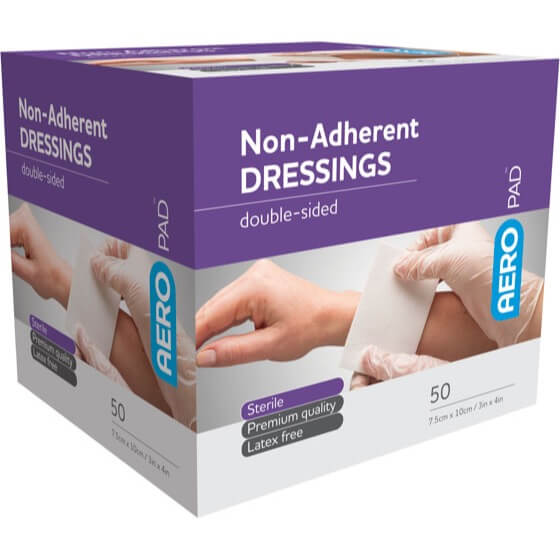 house-of-first-aid,AeroPad Non-Adherent Dressing 50 Pads 10 cm x 7.5 cm 10% GST,Aero healthcare,Non Adherent Dressing