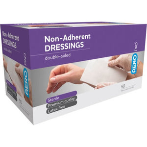 house-of-first-aid,AeroPad Non-Adherent 50 Dressing Pads 10 cm x 20 cm 10% GST,Aero healthcare,Non Adherent Dressing