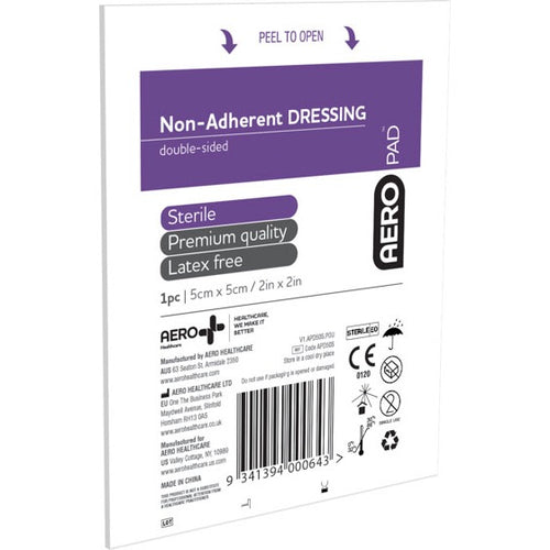 house-of-first-aid,AeroPad Non-Adherent 3 Dressing Pads 5 cm x 5 cm 10% GST,House of First Aid,Non Adherent Dressing