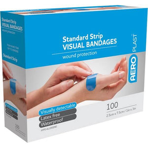 house-of-first-aid,AeroPlast Premium Visual Bandages – 100 Strips Extra Wide 10% GST,Aero healthcare,ADHESIVE BANDAGES