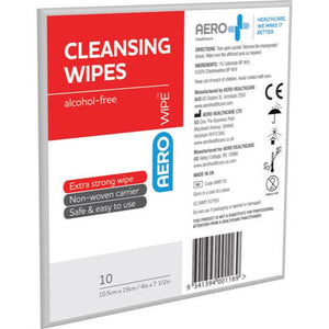 house-of-first-aid,AeroWipe Alcohol-Free Cleansing Wipes envelope/10 10% GST,Aero healthcare,Cleansing Wipes