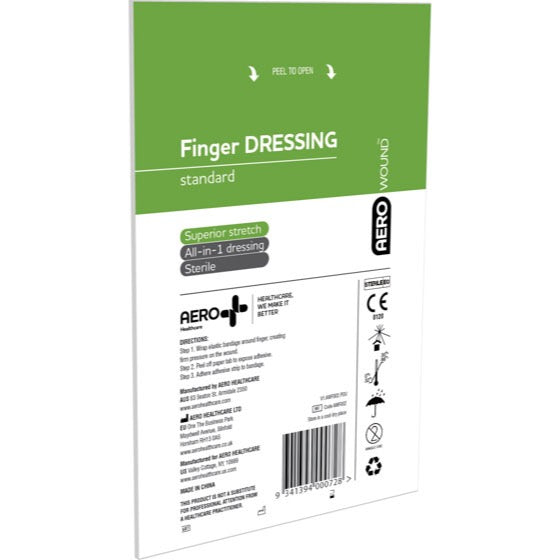 house-of-first-aid,AeroWound Standard 50 Finger Dressings 4.5 cm x 4.5 cm 10% GST,Aero healthcare,Wound Dressing