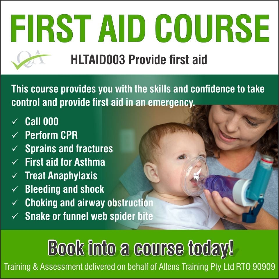house-of-first-aid,HLTAID003 Provide First Aid Refresher GST Free,House of First Aid,Training Courses