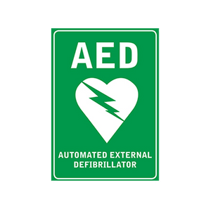 house-of-first-aid,AED Wall Sign plus 10% GST,House of First Aid,Defibrillator Accessories