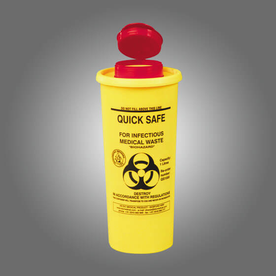 house-of-first-aid,AeroHazard Sharps Disposal Container 1L,Aero healthcare,Sharps Disposal