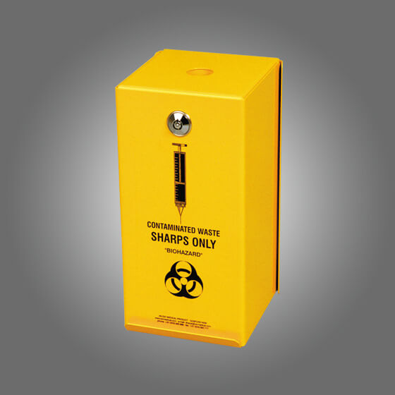 house-of-first-aid,AeroHazard Sharps Disposal Container – Steel Security Case to suit 2L 10% GST,Aero healthcare,Sharps Disposal