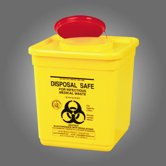 house-of-first-aid,AeroHazard Sharps Disposal Container 4.5L 10% GST,Aero healthcare,Sharps Disposal