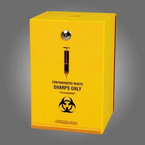 house-of-first-aid,AeroHazard Sharps Disposal Container – Steel Security Case 4.5L 10% GST,Aero healthcare,Sharps Disposal