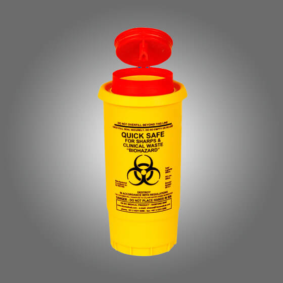 house-of-first-aid,AeroHazard Sharps Disposal Container 0.5L 10% GST,Aero healthcare,Sharps Disposal