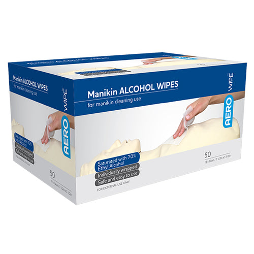 house-of-first-aid,Manikin Alcohol Wipes 10% GST,Aero healthcare,Alcohol Wipes