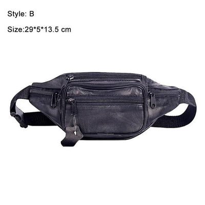 muslim-spirit - Premium Passport Money Belt Bag - Genuine Leather - Hajj & Umrah Essentials