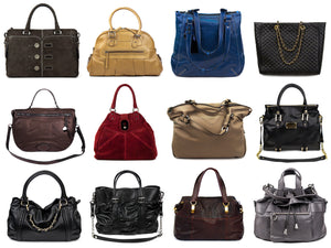 Purses of different sizes and colors and styles