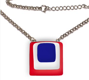 France Fused Glass Necklace