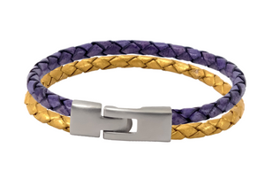 LSU Tigers Leather Bracelet