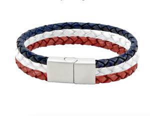 USA Leather Bracelet