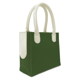 leather purse for women from green and white leather