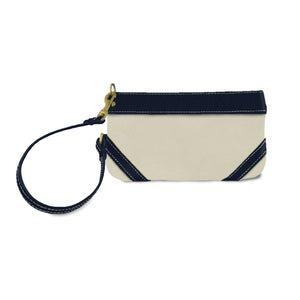 leather wristlet for women from natural leather