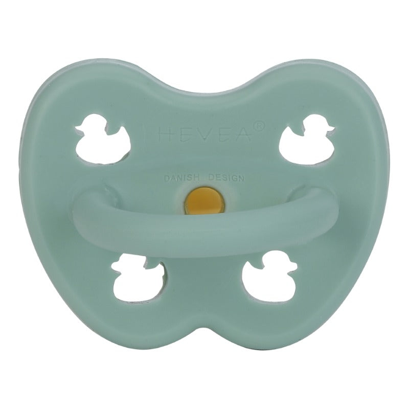 Hevea natural rubber orthodontic pacifier/dummies pistachio
