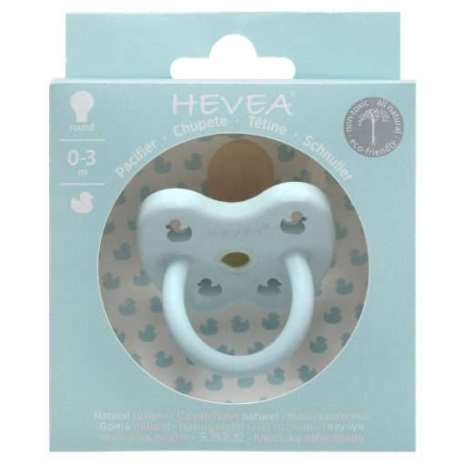 Hevea natural rubber Pacifier - Baby Blue 0-3m