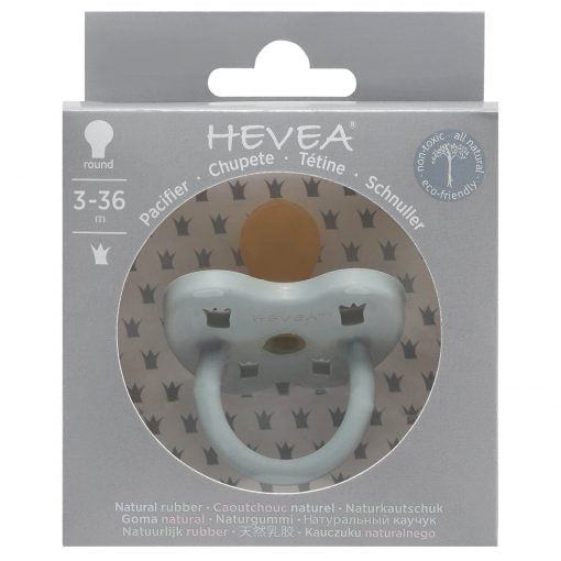 Hevea natural rubber pacifier/dummies gorgeous Grey