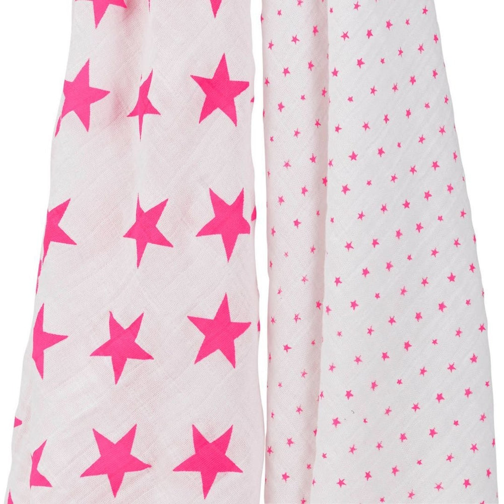 Classic Swaddle Muslin Wrap | Fluro Pink