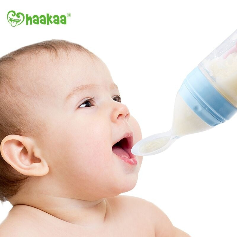 HAAKAA Silicone Baby Food Dispensing Spoon